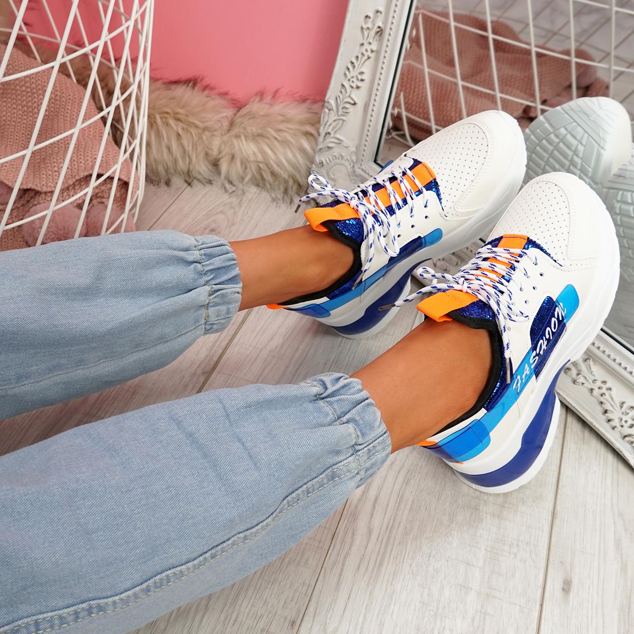 Débardeur femme à lacets semelle épaisse Baskets à Lacets Talon Baskets Femmes Chaussures