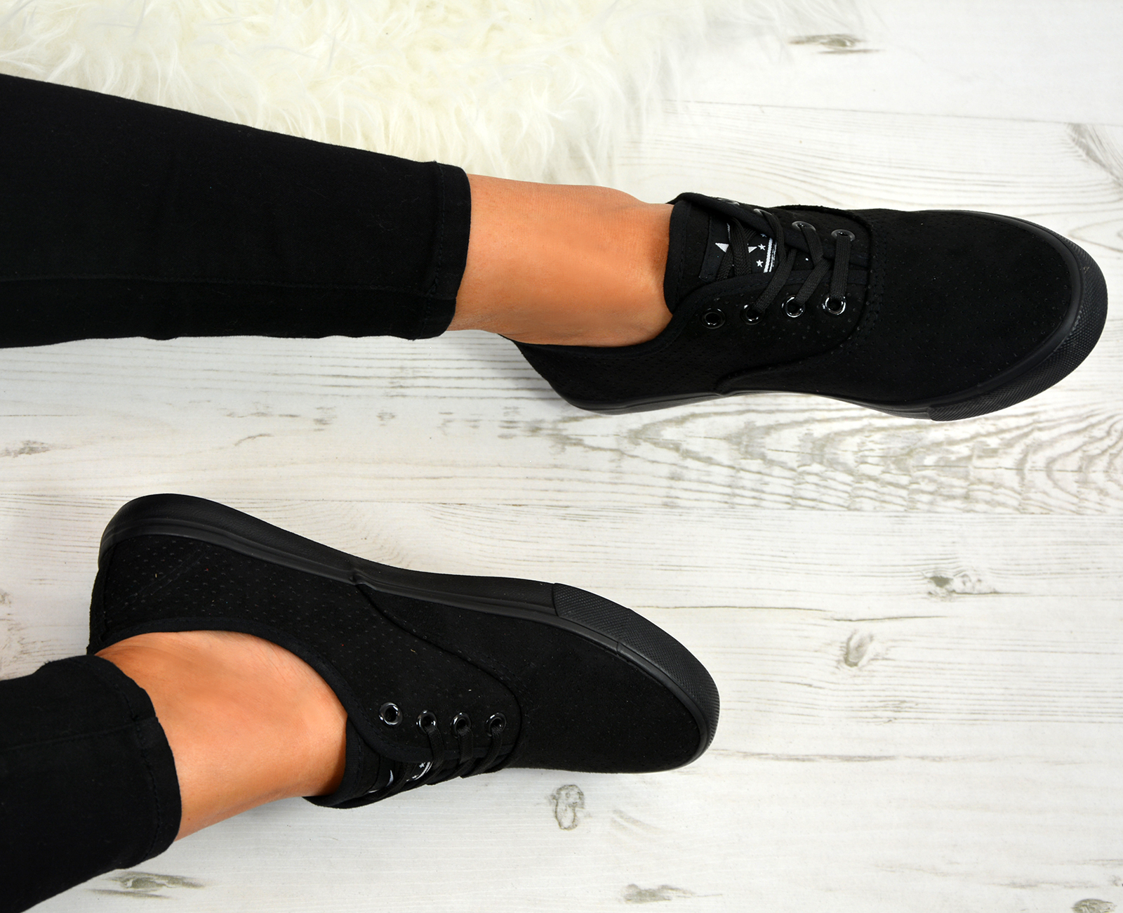 LADIES WOMENS LACE UP TRAINERS PLIMSOLLS SNEAKERS RUNNING PUMPS COMFY SHOES SIZE