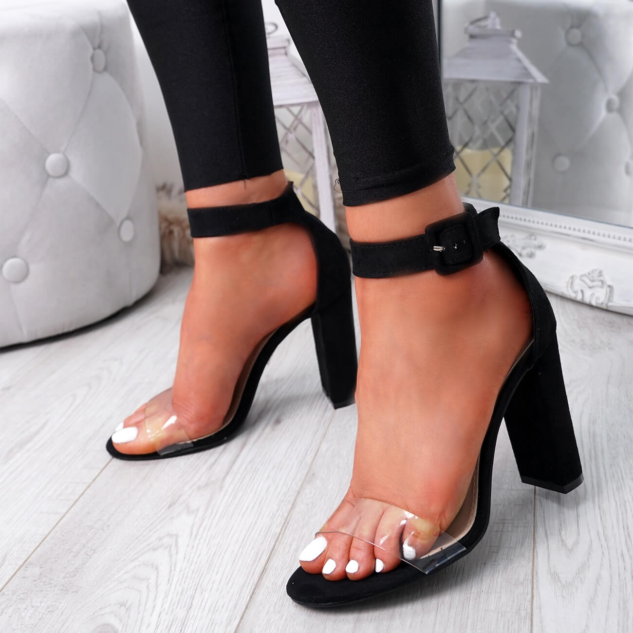 WOMENS-LADIES-HIGH-BLOCK-HEEL-PEEP-TOE-ANKLE-STRAP-SANDALS-PARTY-SHOES-SIZE thumbnail 13