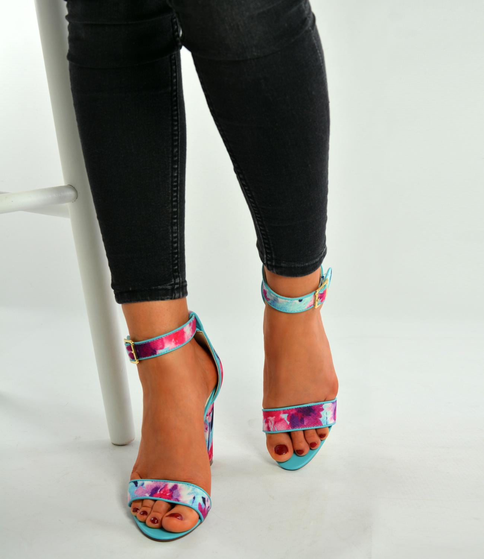 Nude Floral Stileto Shoes Uk