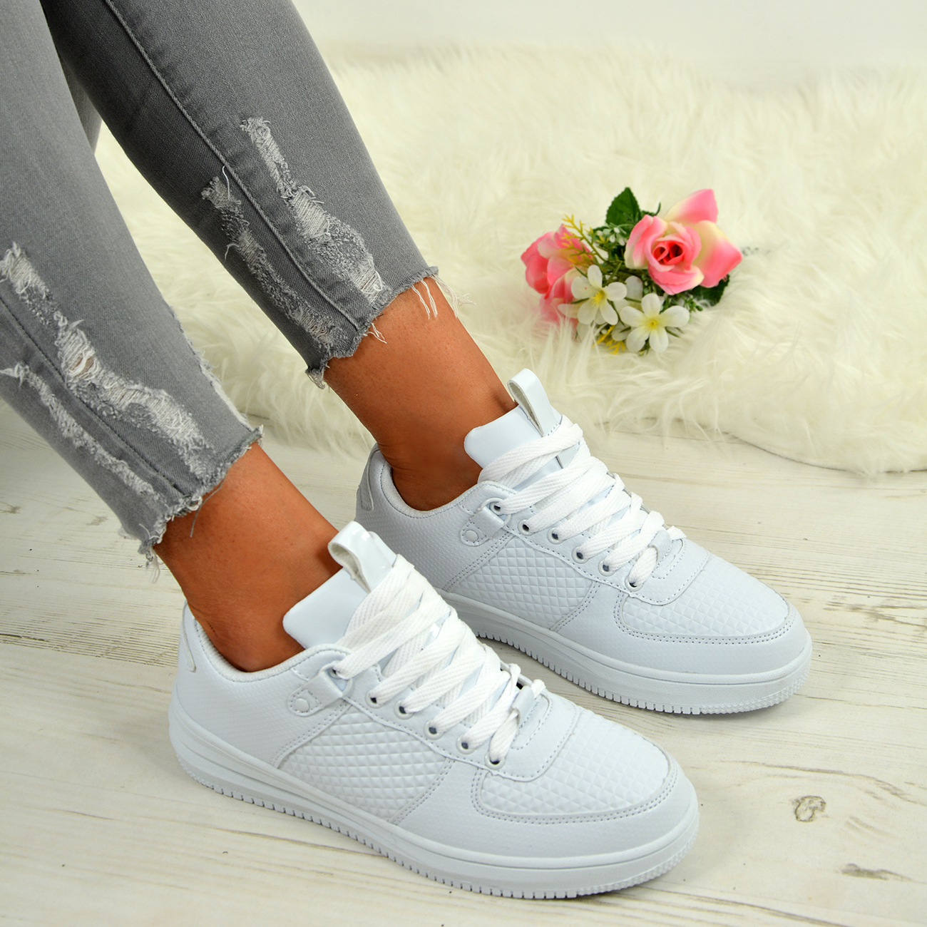 LADIES-WOMENS-TRAINERS-LACE-UP-SNEAKERS-CASUAL-PLIMSOLLS-SHOES-SIZES