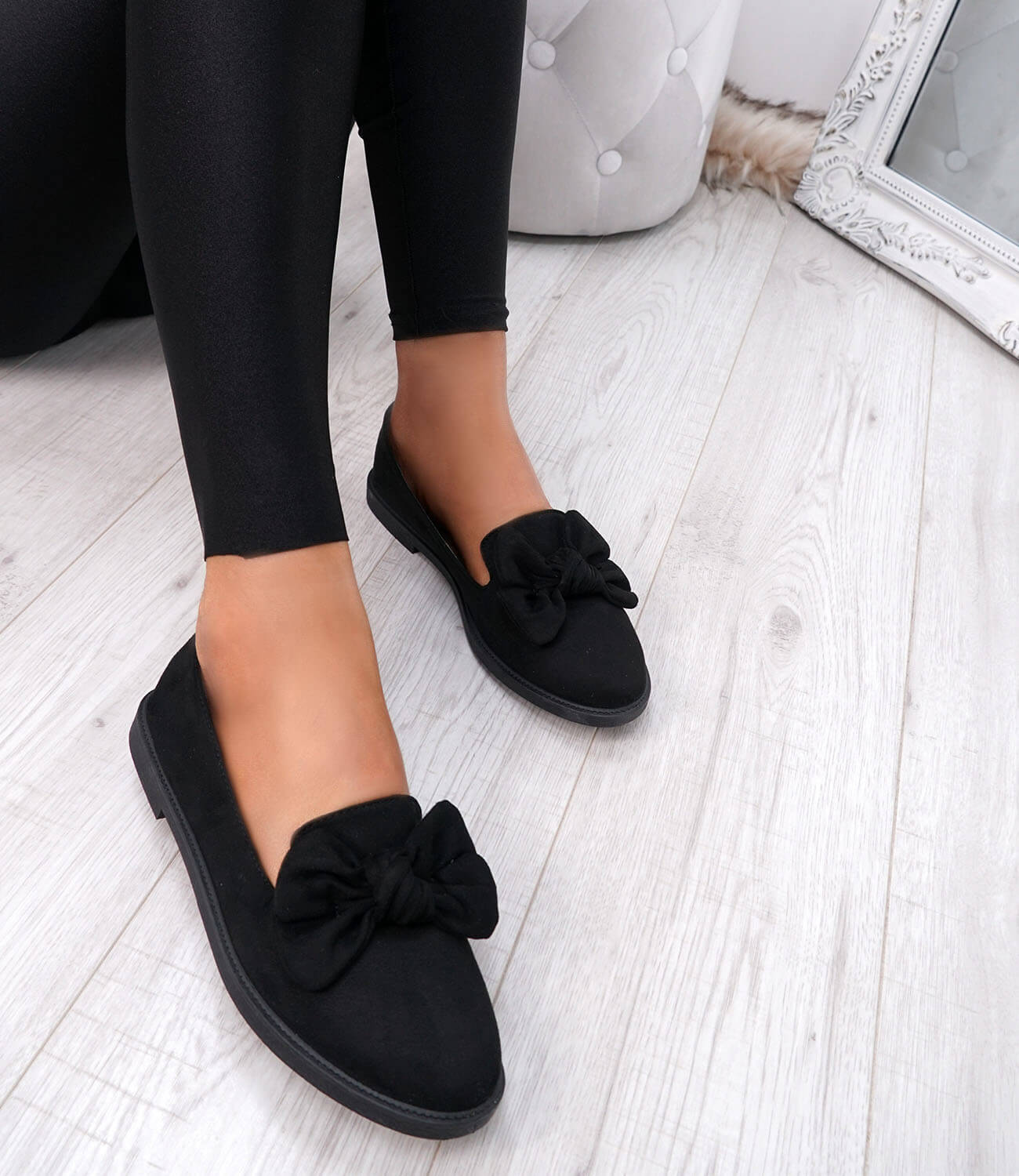 WOMENS-LADIES-BOW-BALLERINA-PUMPS-FLATS-SLIP-ON-BALLET-CASUAL-WORK-SHOES-SIZE thumbnail 15