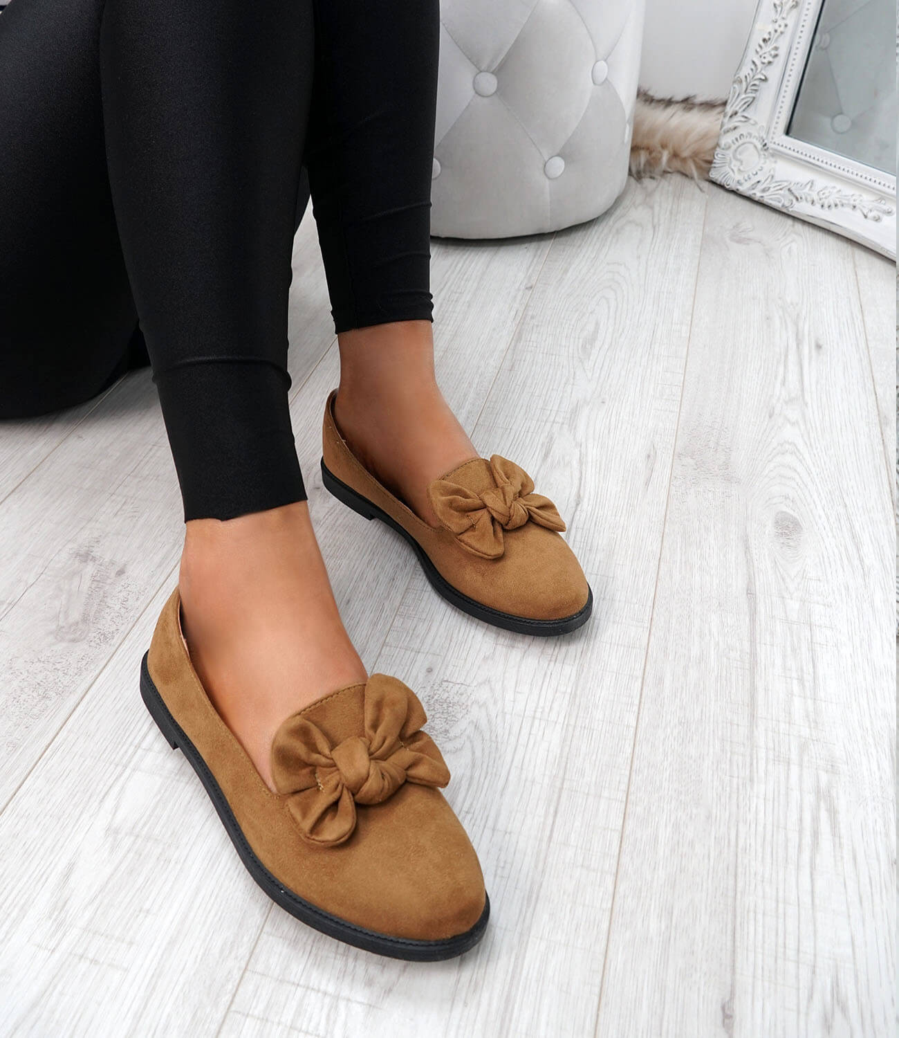 WOMENS-LADIES-BOW-BALLERINA-PUMPS-FLATS-SLIP-ON-BALLET-CASUAL-WORK-SHOES-SIZE thumbnail 20
