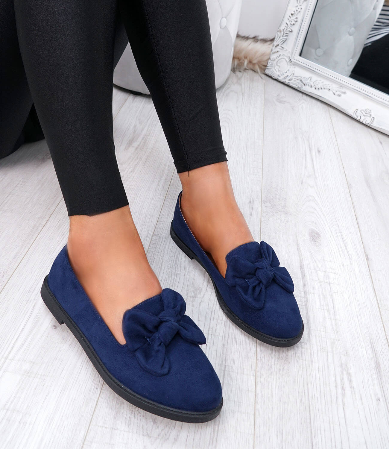 WOMENS-LADIES-BOW-BALLERINA-PUMPS-FLATS-SLIP-ON-BALLET-CASUAL-WORK-SHOES-SIZE thumbnail 25