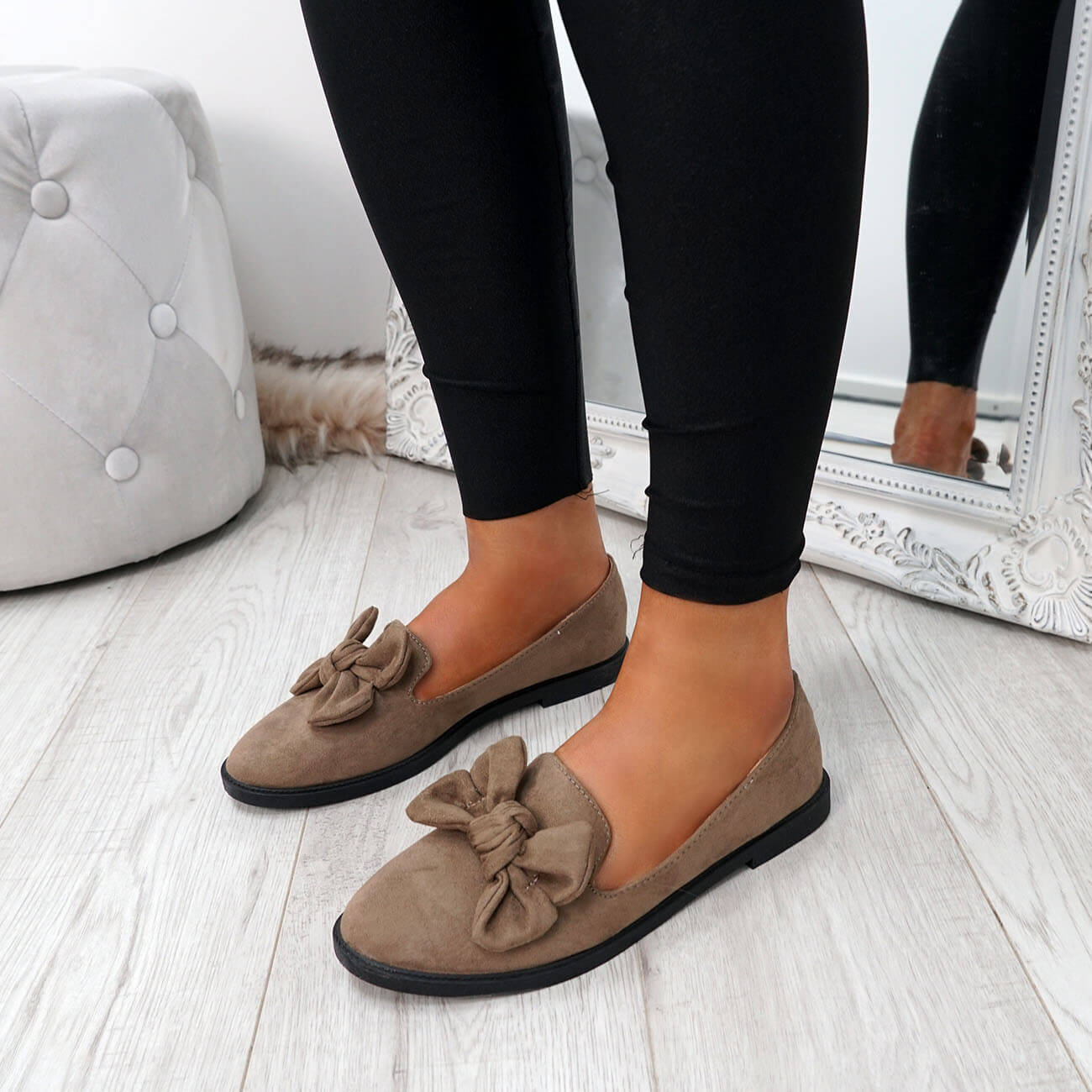 WOMENS-LADIES-BOW-BALLERINA-PUMPS-FLATS-SLIP-ON-BALLET-CASUAL-WORK-SHOES-SIZE thumbnail 28