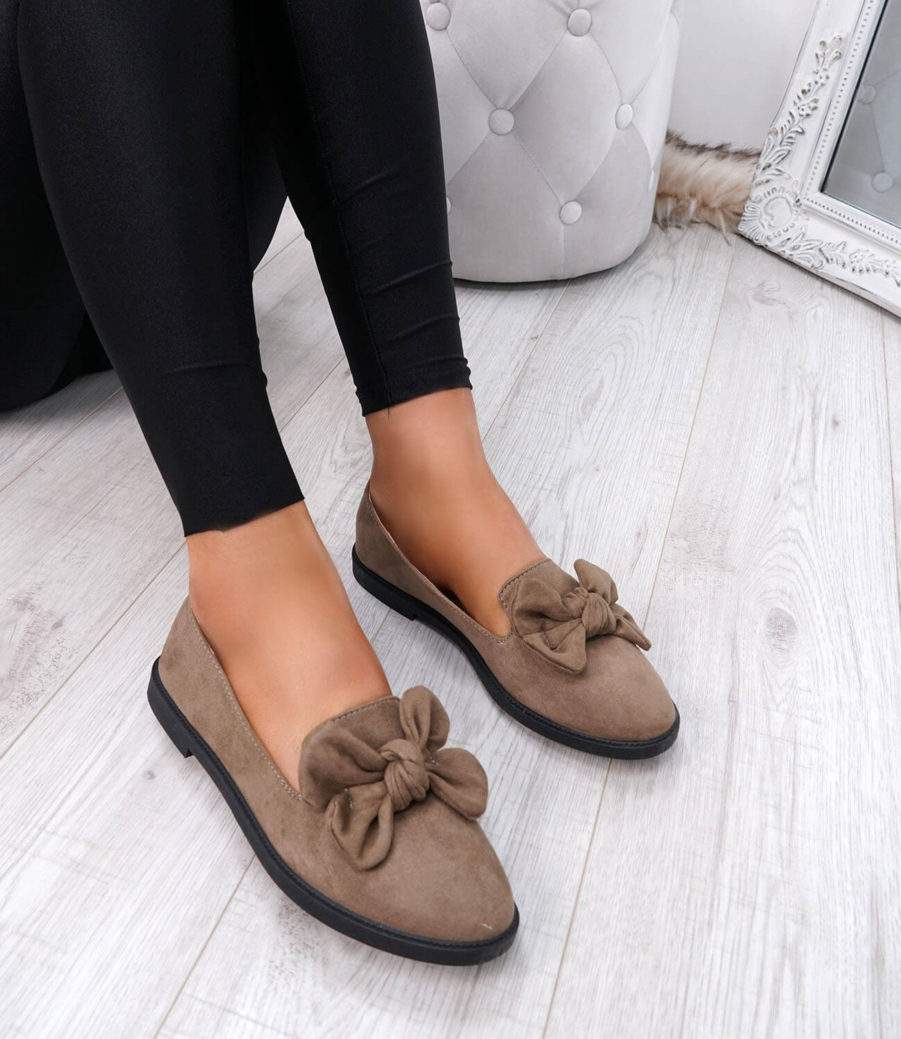 WOMENS-LADIES-BOW-BALLERINA-PUMPS-FLATS-SLIP-ON-BALLET-CASUAL-WORK-SHOES-SIZE thumbnail 29