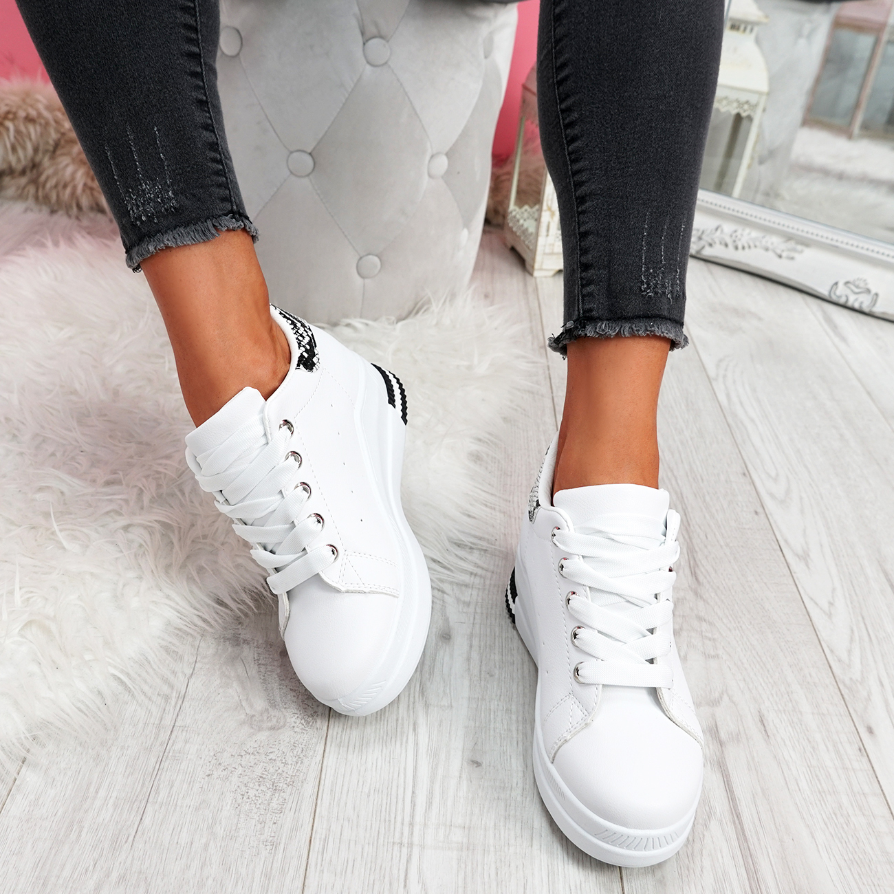 WOMENS LADIES LACE UP WEDGE PARTY TRAINERS WOMEN CASUAL FASHION SNEAKERS  SHOES   eBay