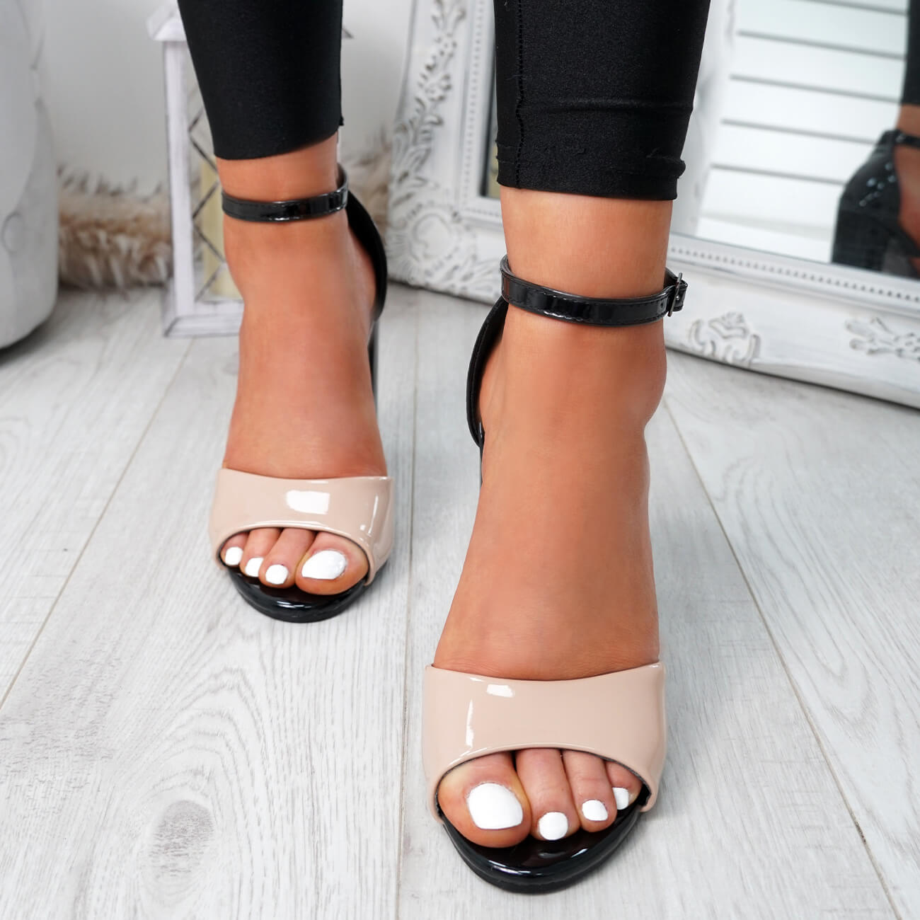 WOMENS-LADIES-ANKLE-STRAP-HIGH-BLOCK-HEEL-SANDALS-PEEP-TOE-OFFICE-CASUAL-SHOES thumbnail 7