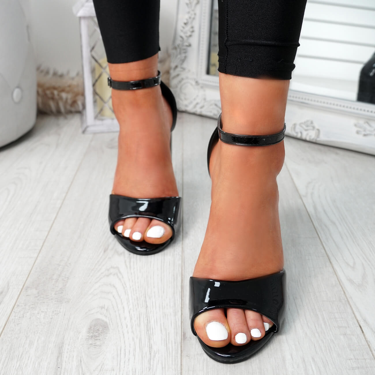 WOMENS-LADIES-ANKLE-STRAP-HIGH-BLOCK-HEEL-SANDALS-PEEP-TOE-OFFICE-CASUAL-SHOES thumbnail 12