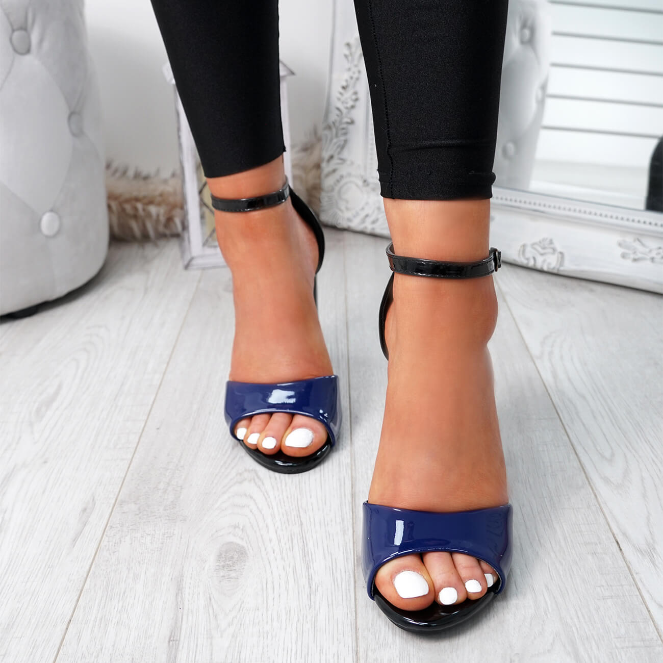 WOMENS-LADIES-ANKLE-STRAP-HIGH-BLOCK-HEEL-SANDALS-PEEP-TOE-OFFICE-CASUAL-SHOES thumbnail 20