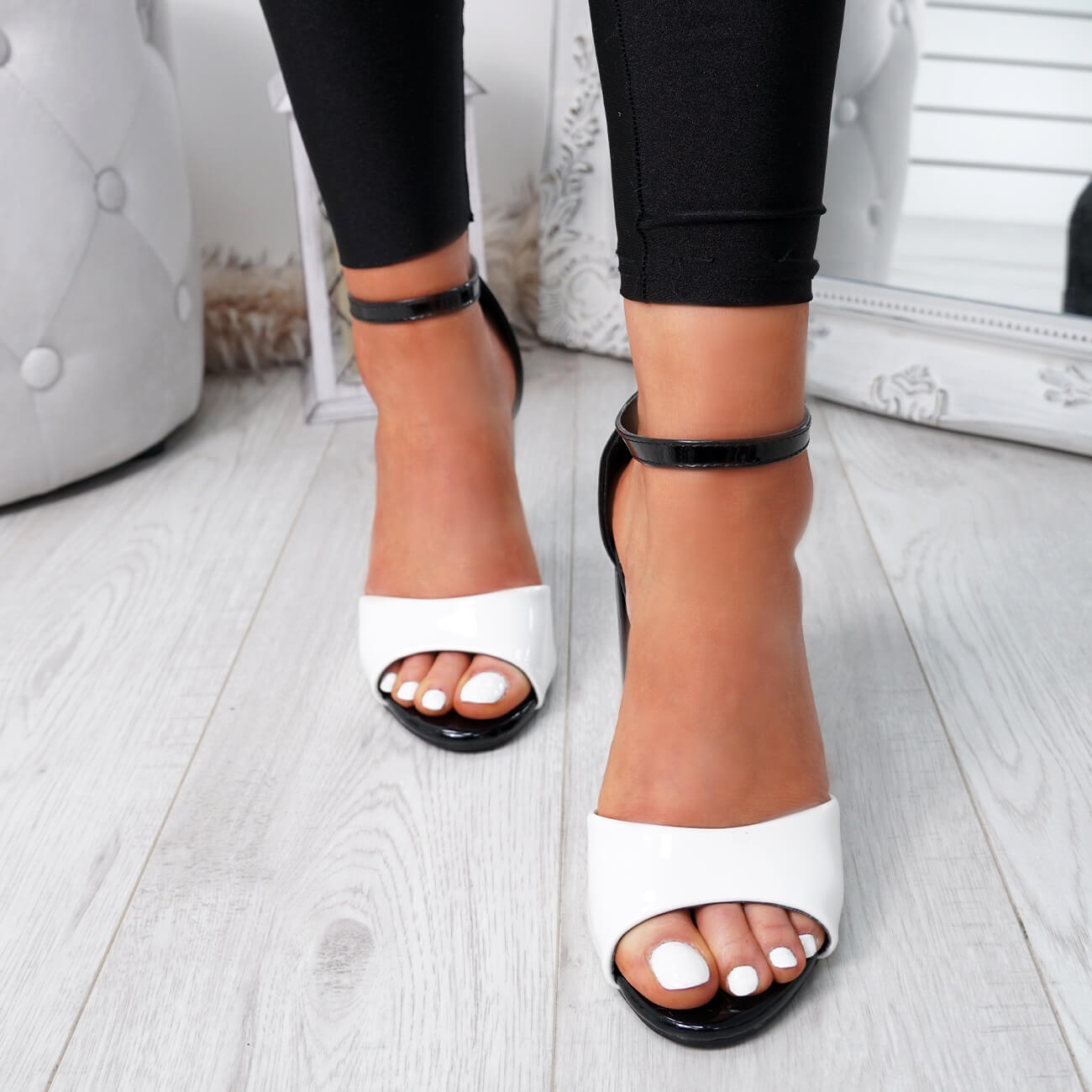 WOMENS-LADIES-ANKLE-STRAP-HIGH-BLOCK-HEEL-SANDALS-PEEP-TOE-OFFICE-CASUAL-SHOES thumbnail 27