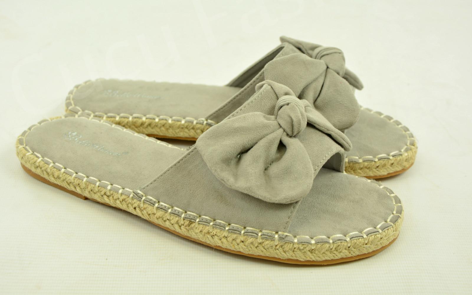 New Womens Ladies Bow Flats Girls Sandals Slip On Peep Toe Shoes Size Uk 3-8