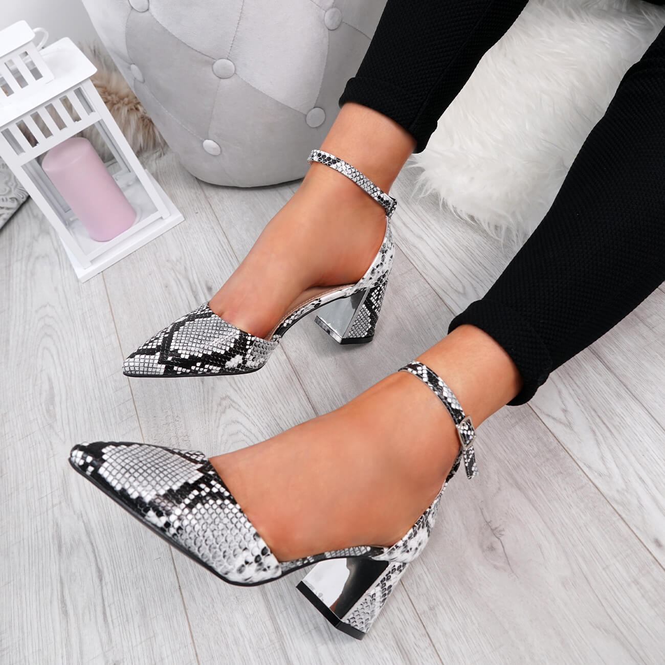WOMENS-LADIES-ANKLE-STRAP-POINTED-HIGH-BLOCK-HEEL-PUMPS-COURT-SHOES-SIZE thumbnail 22