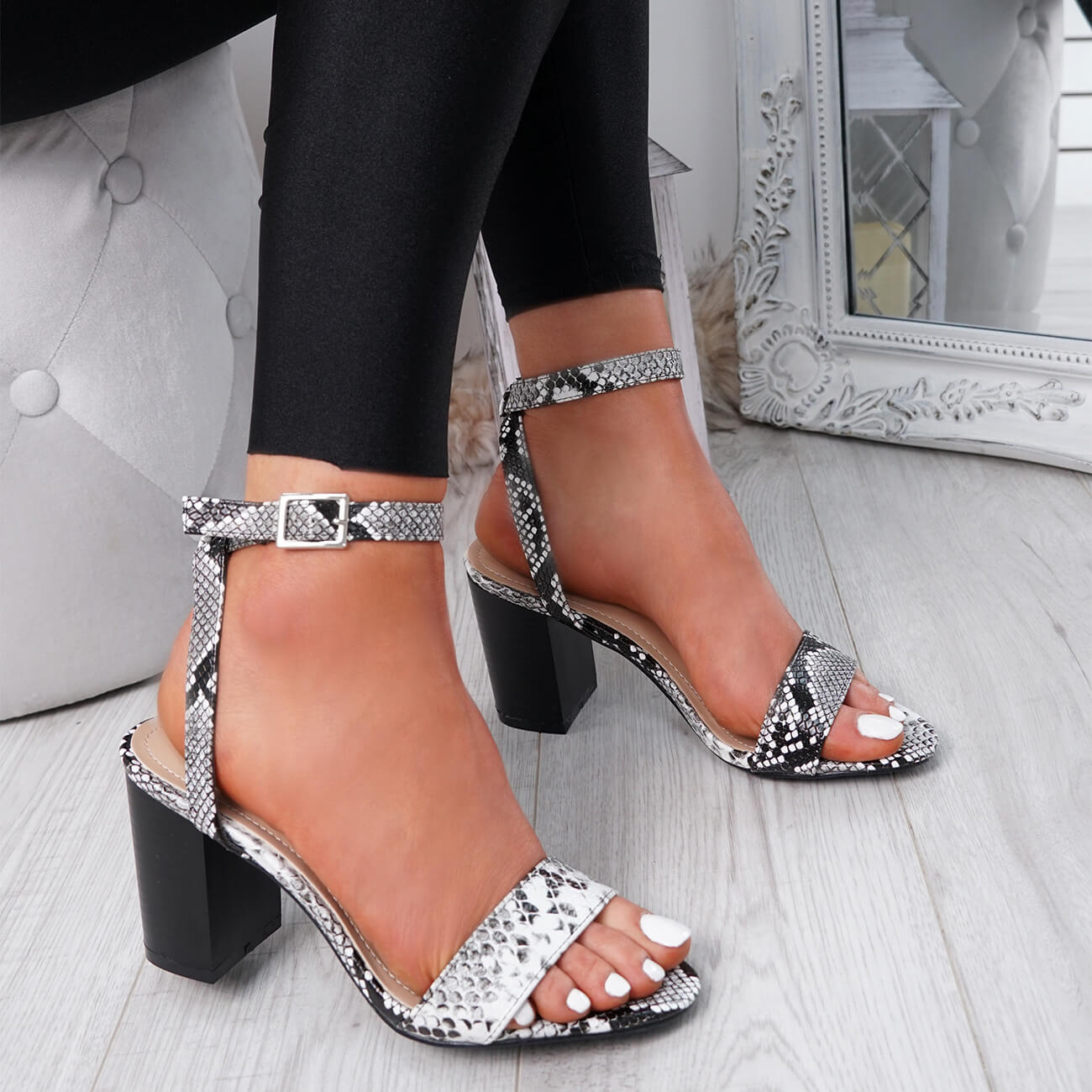 WOMENS-LADIES-PEEP-TOE-HIGH-BLOCK-HEEL-SANDALS-ANKLE-STRAP-PARTY-SHOES-SIZE thumbnail 15