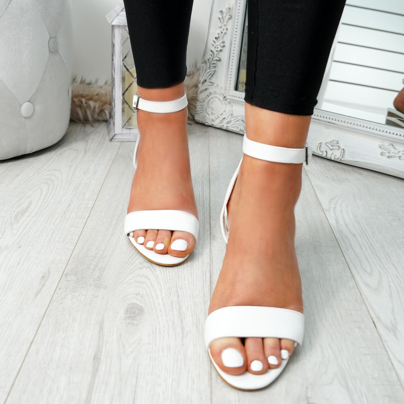 WOMENS-LADIES-PEEP-TOE-HIGH-BLOCK-HEEL-SANDALS-ANKLE-STRAP-PARTY-SHOES-SIZE thumbnail 17