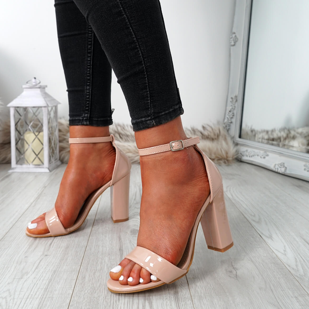 WOMENS-LADIES-ANKLE-STRAP-HIGH-BLOCK-HEEL-SANDALS-PEEP-TOE-PARTY-SHOES-SIZE thumbnail 18