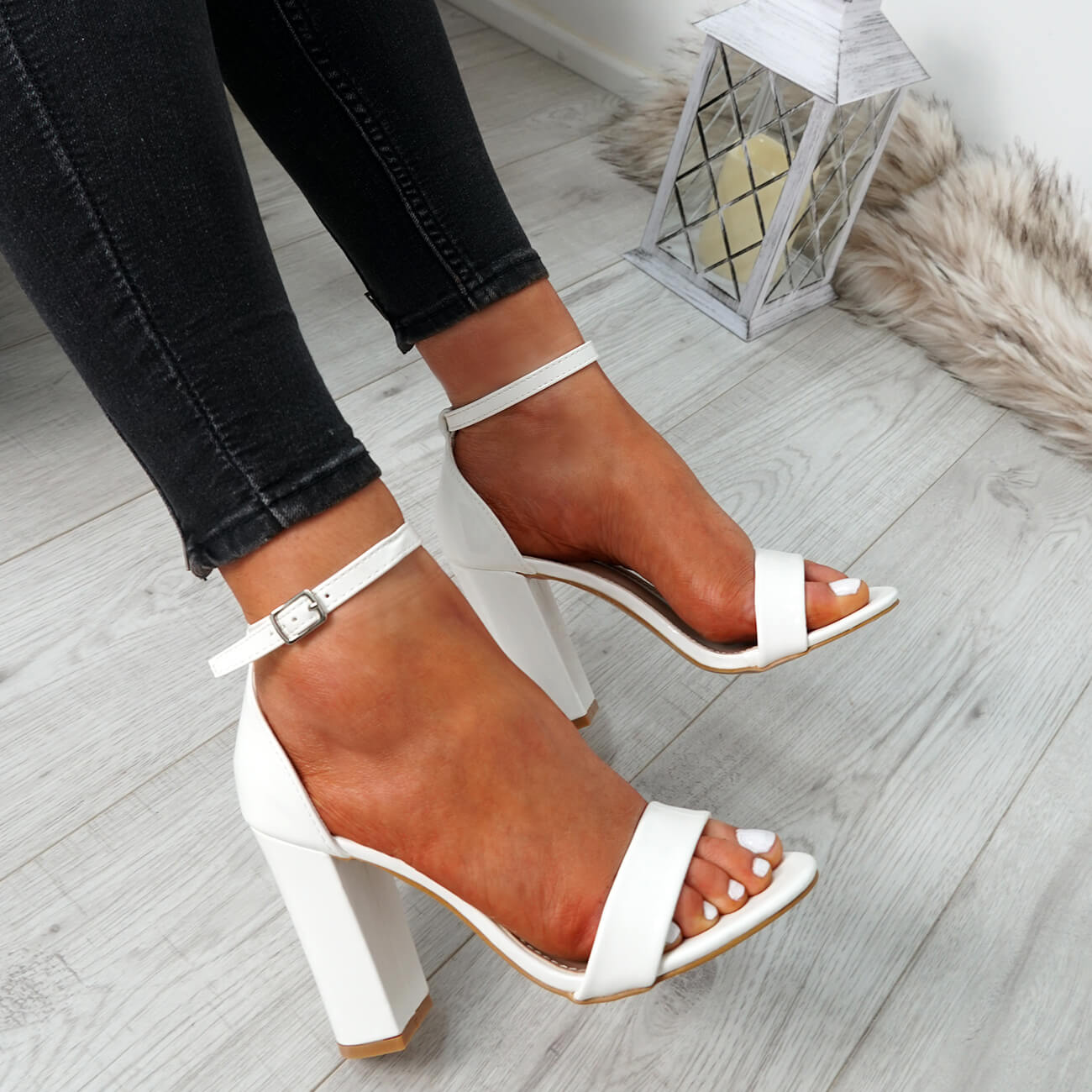 WOMENS-LADIES-ANKLE-STRAP-HIGH-BLOCK-HEEL-SANDALS-PEEP-TOE-PARTY-SHOES-SIZE thumbnail 27