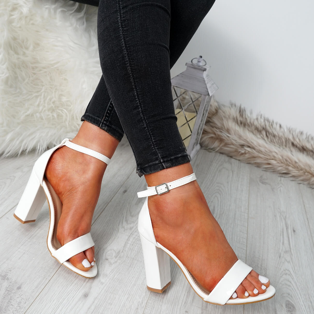 WOMENS-LADIES-ANKLE-STRAP-HIGH-BLOCK-HEEL-SANDALS-PEEP-TOE-PARTY-SHOES-SIZE thumbnail 28