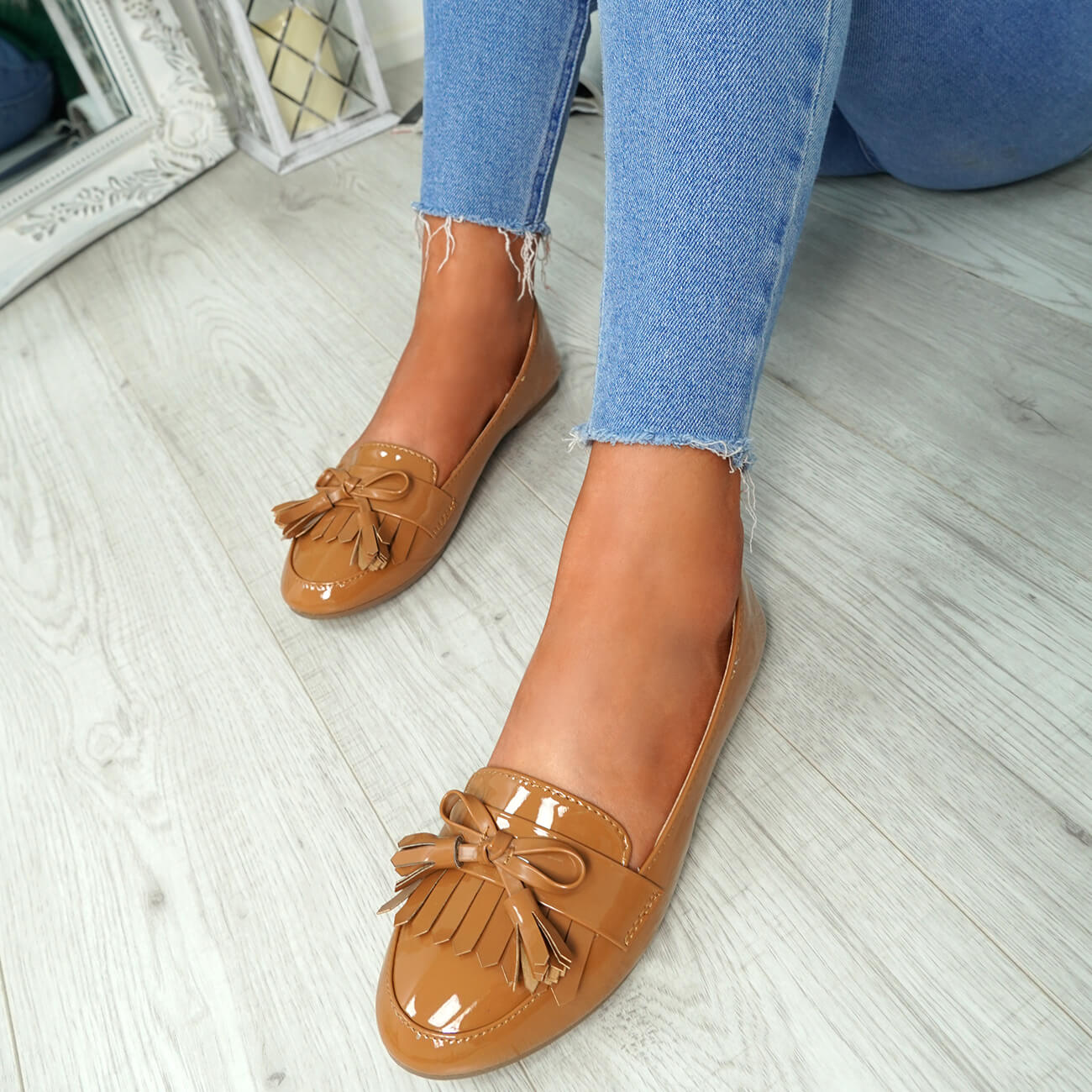 WOMENS-LADIES-FRINGE-BALLERINAS-SLIP-ON-FLAT-DOLLY-PUMPS-CASUAL-SMART-SHOES-SIZE thumbnail 14