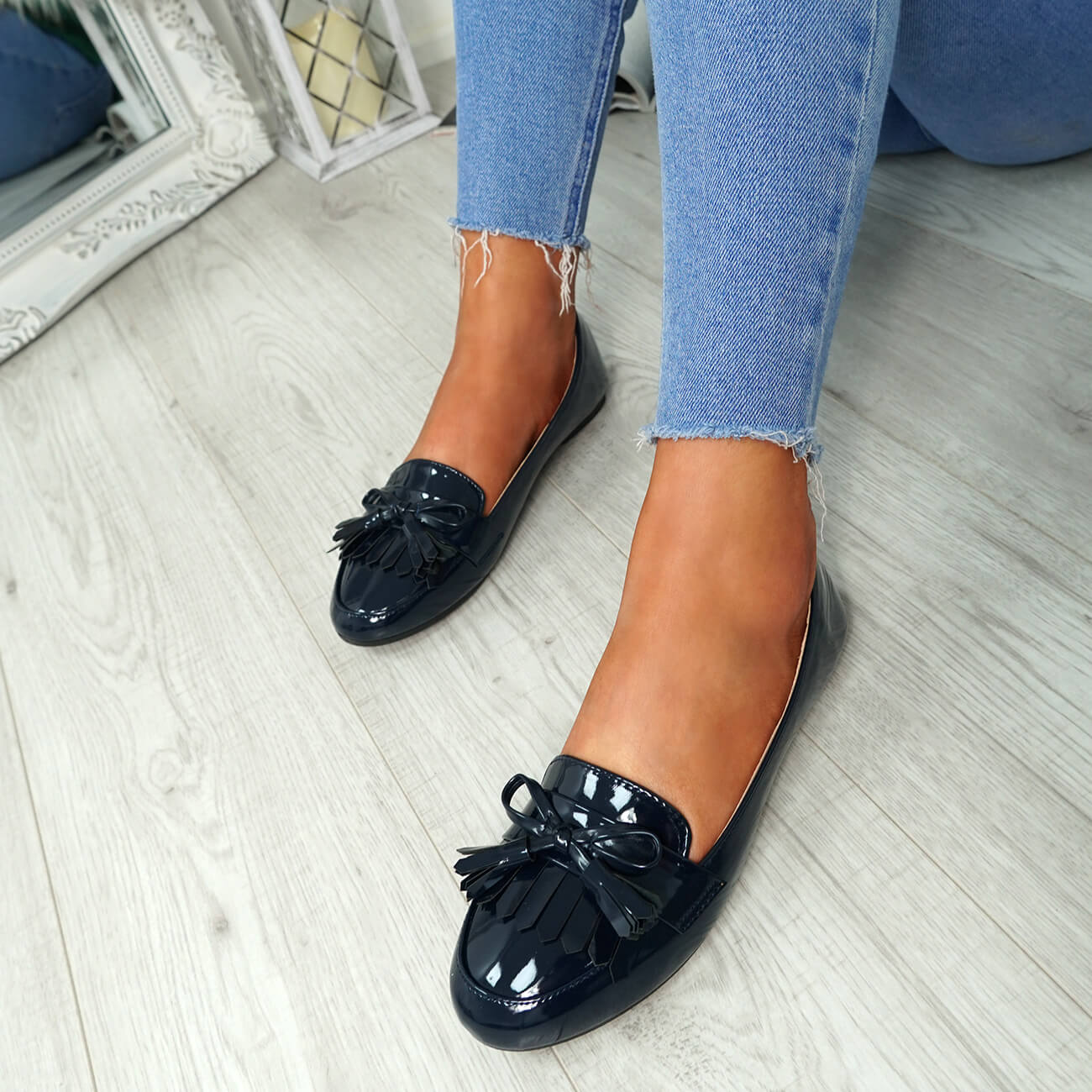 WOMENS-LADIES-FRINGE-BALLERINAS-SLIP-ON-FLAT-DOLLY-PUMPS-CASUAL-SMART-SHOES-SIZE thumbnail 19
