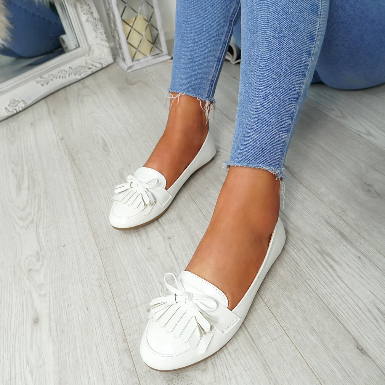 WOMENS-LADIES-FRINGE-BALLERINAS-SLIP-ON-FLAT-DOLLY-PUMPS-CASUAL-SMART-SHOES-SIZE thumbnail 34