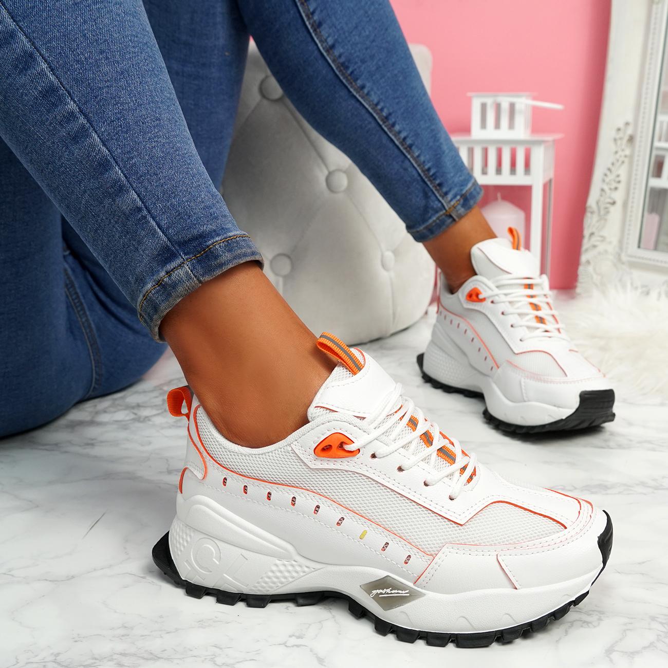 Femme Femmes grosses Baskets Fashion Plimsoll à Lacets Baskets Chaussures Taille