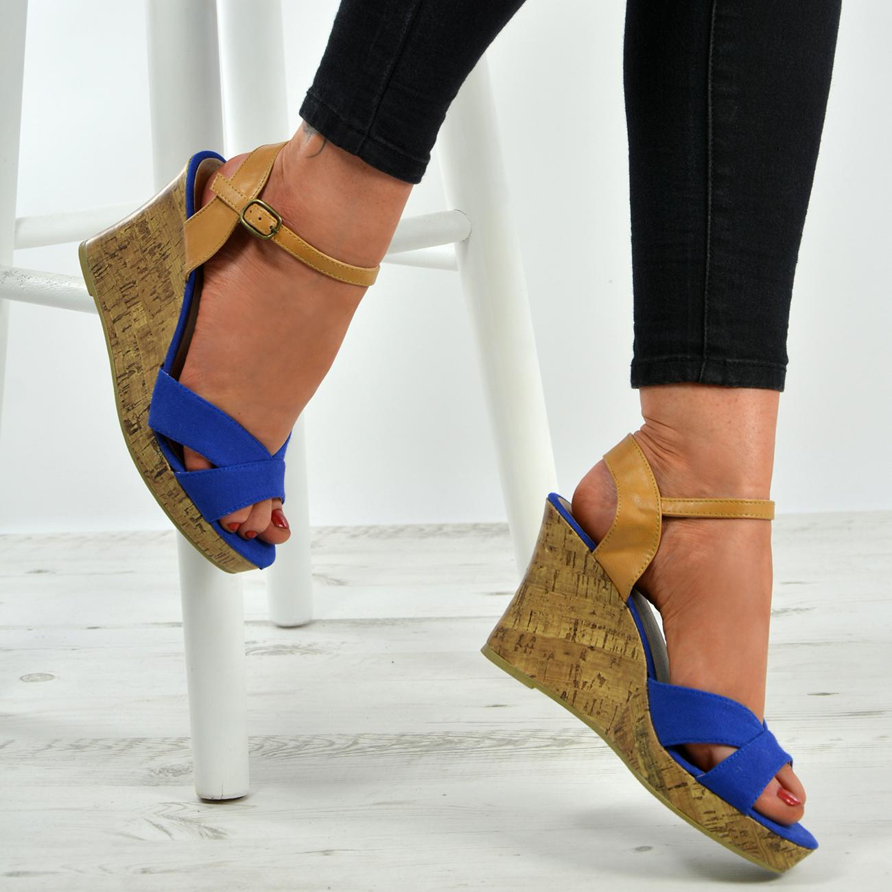 New-Womens-Ladies-Ankle-Strap-Espadrille-Wedge-Heel-Platform-Sandals-Shoes