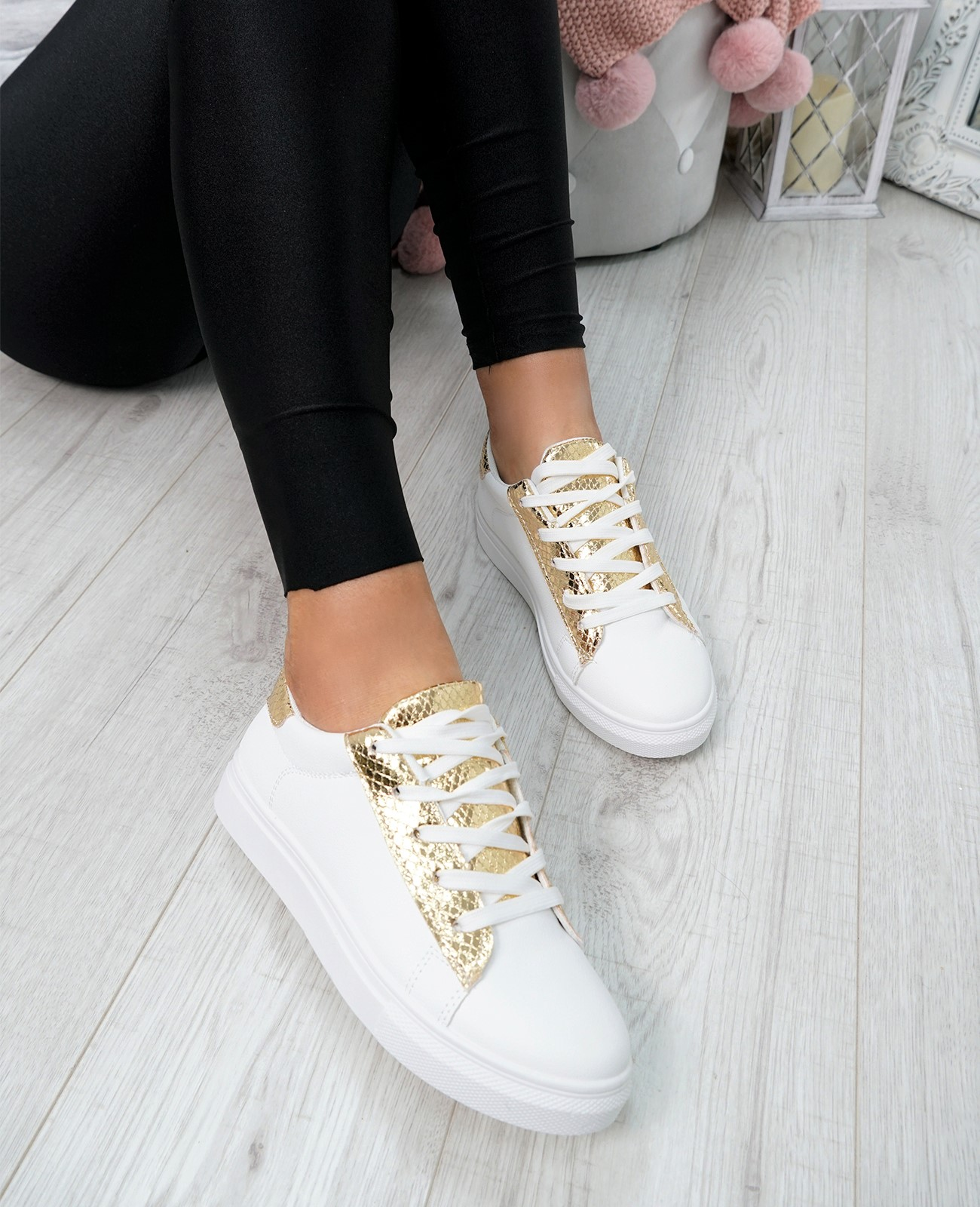 WOMENS-LADIES-SNAKE-SKIN-GLITTER-LACE-UP-TRAINERS-PLIMSOLLS-SNEAKERS-SHOES thumbnail 14