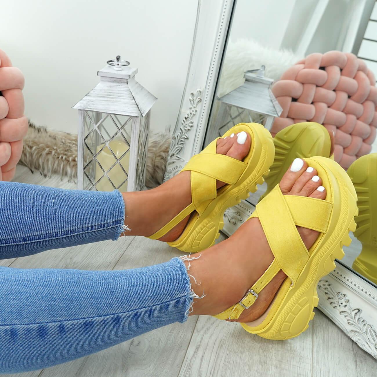 WOMENS-LADIES-ANKLE-STRAP-FLATFORM-PLATFORM-SUMMER-SANDALS-HEEL-SHOES-SIZE-UK thumbnail 40