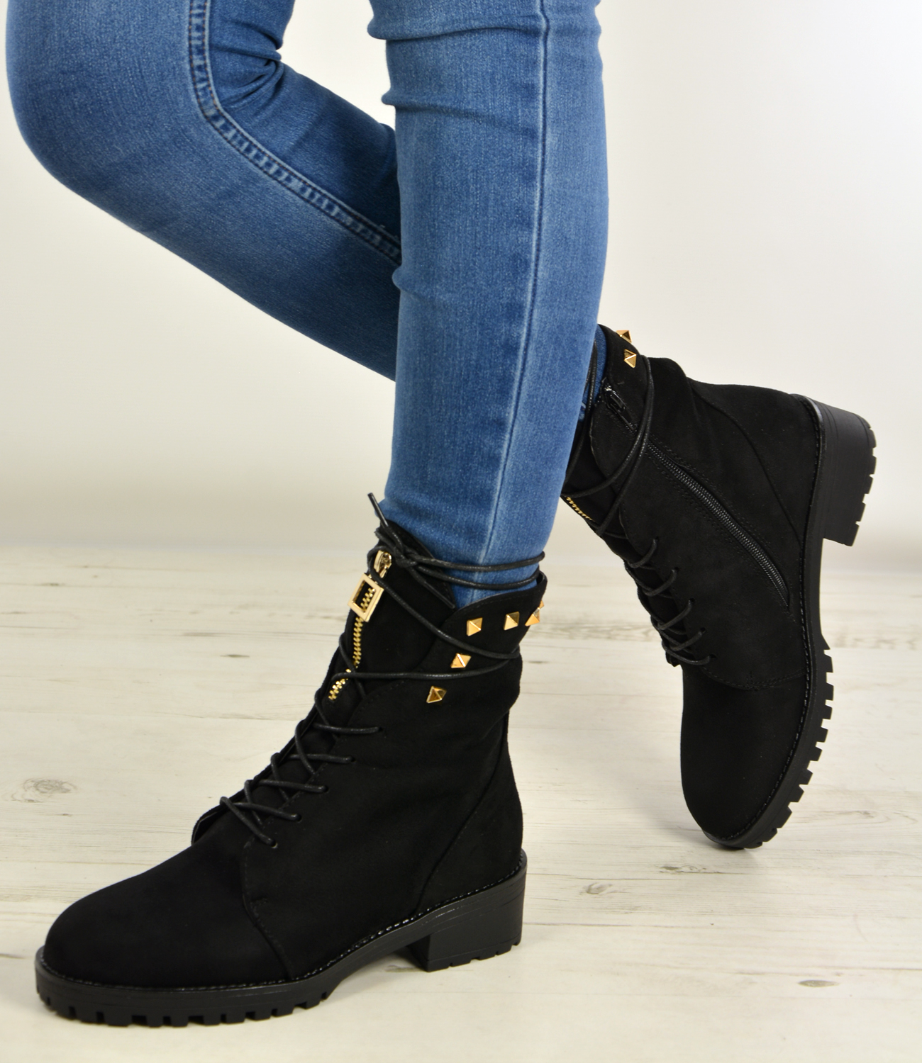 Womens High Top Boots Hiking Desert Combat Spike Ladies ...