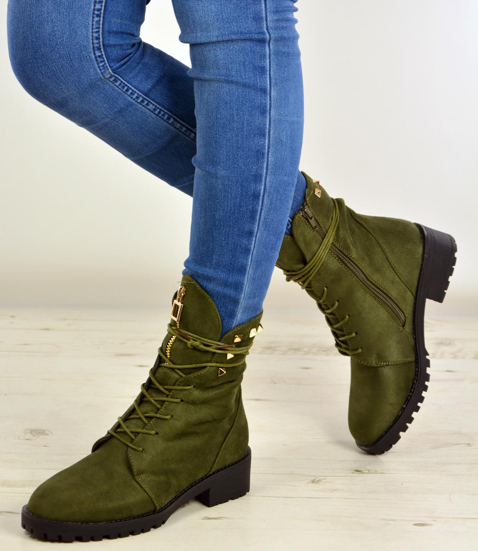 womens high top boots hiking desert combat spike