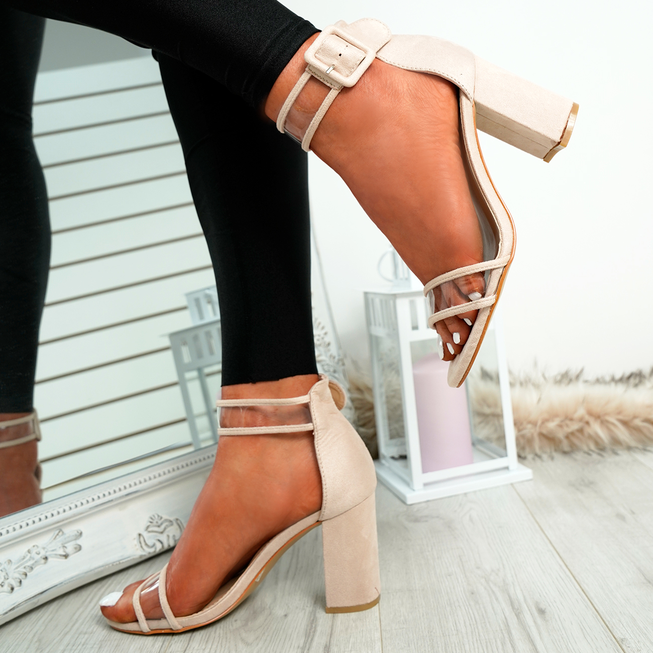 WOMENS-LADIES-ANKLE-STRAP-PEEP-TOE-HIGH-BLOCK-HEEL-SANDALS-FASHION-SHOES thumbnail 9