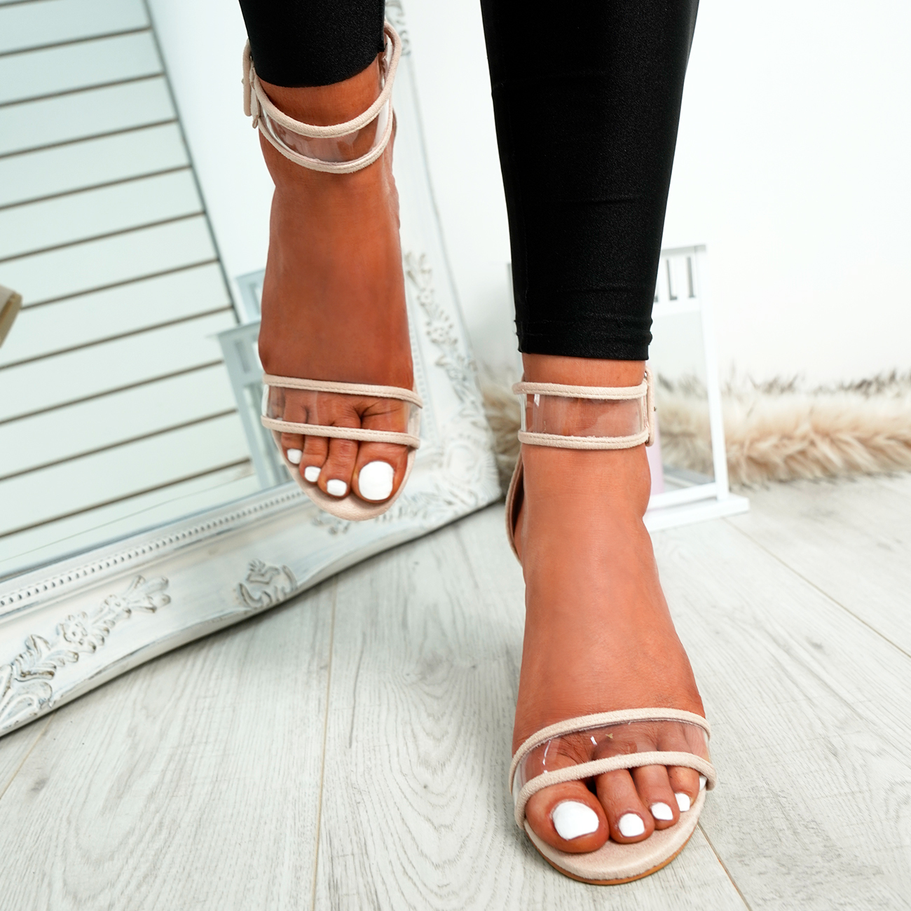 WOMENS-LADIES-ANKLE-STRAP-PEEP-TOE-HIGH-BLOCK-HEEL-SANDALS-FASHION-SHOES thumbnail 10