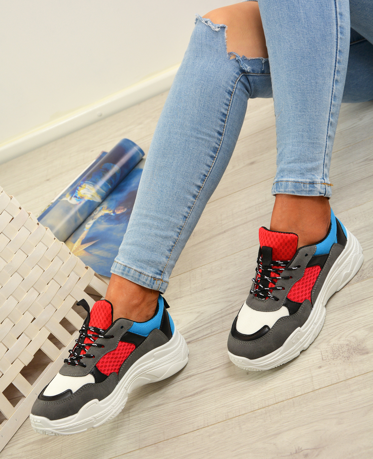 Femme-Running-Gym-Baskets-a-Lacets-Baskets-Tennis-Chaussures-Tailles-UK miniature 14