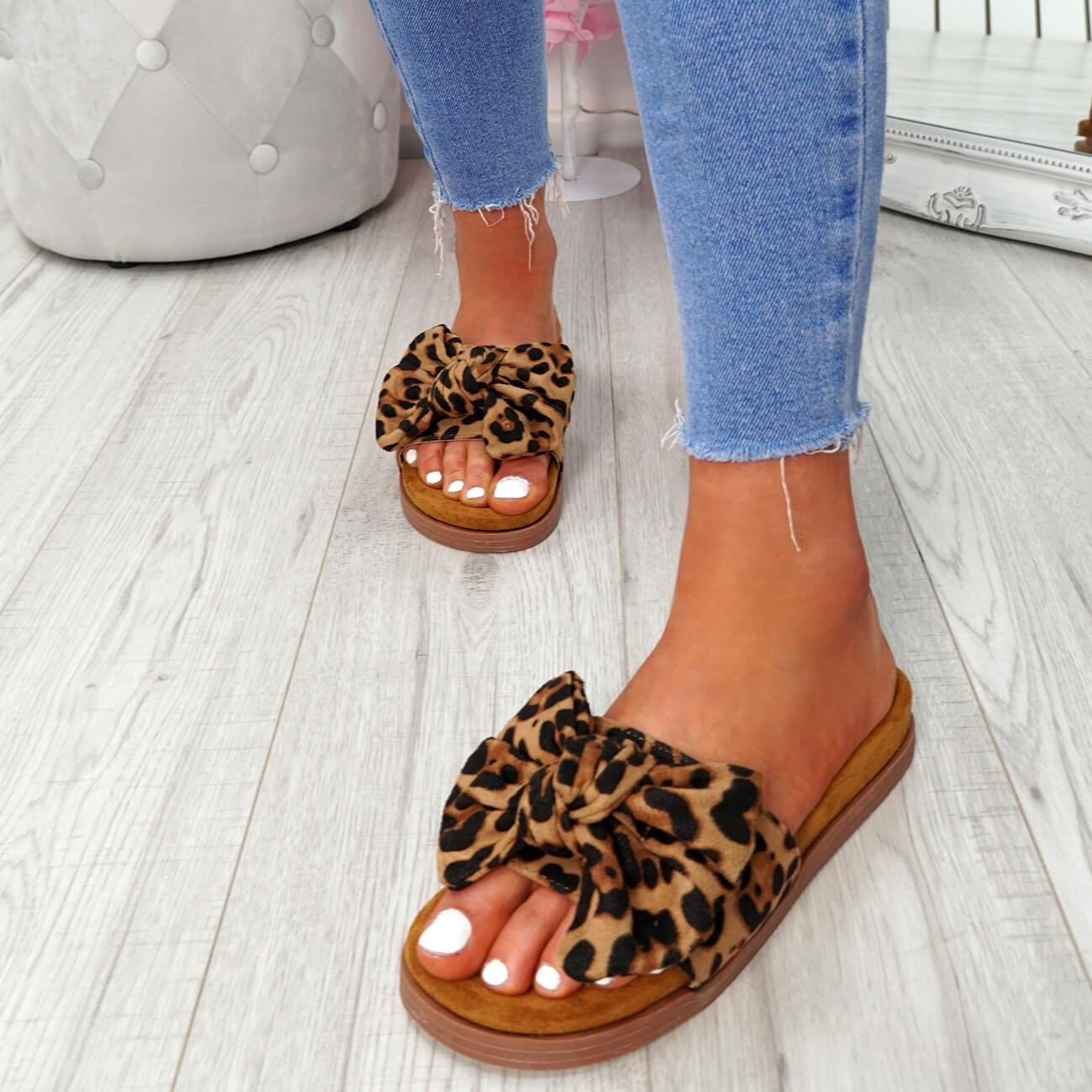 WOMENS-LADIES-FLAT-SANDALS-FRONT-BOW-COMFY-SUMMER-CASUAL-HOLIDAY-SHOES-SIZE-UK thumbnail 23