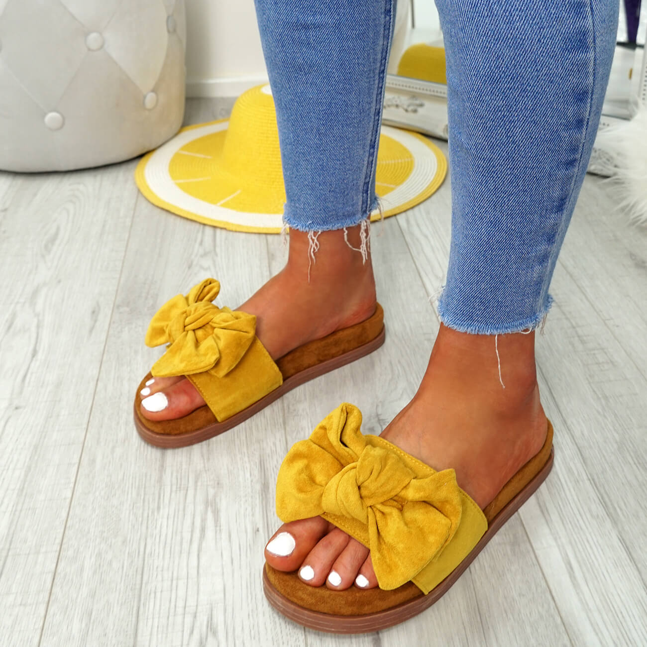 WOMENS-LADIES-FLAT-SANDALS-FRONT-BOW-COMFY-SUMMER-CASUAL-HOLIDAY-SHOES-SIZE-UK thumbnail 27