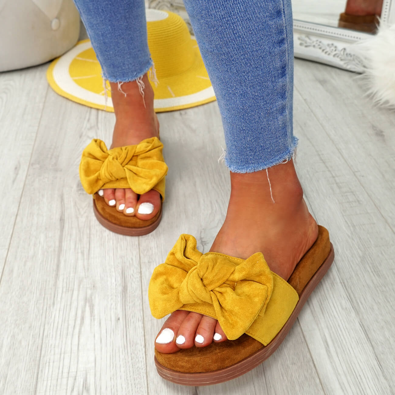 WOMENS-LADIES-FLAT-SANDALS-FRONT-BOW-COMFY-SUMMER-CASUAL-HOLIDAY-SHOES-SIZE-UK thumbnail 28