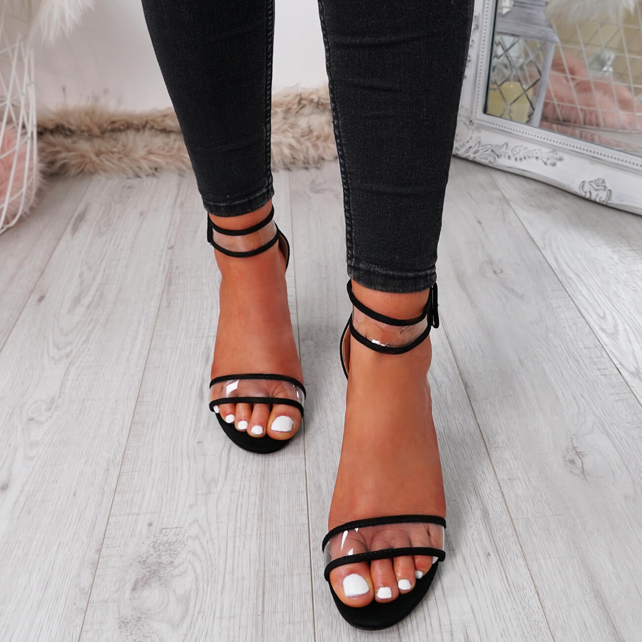 WOMENS-LADIES-ANKLE-STRAP-PEEP-TOE-HIGH-BLOCK-HEEL-SANDALS-FASHION-SHOES thumbnail 12