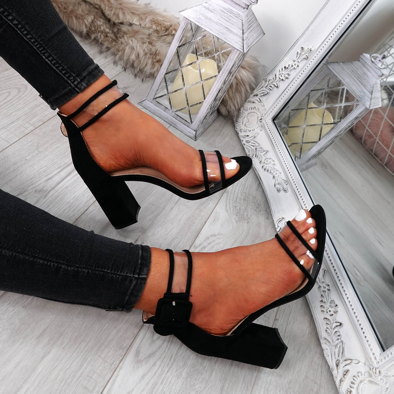 WOMENS-LADIES-ANKLE-STRAP-PEEP-TOE-HIGH-BLOCK-HEEL-SANDALS-FASHION-SHOES thumbnail 15