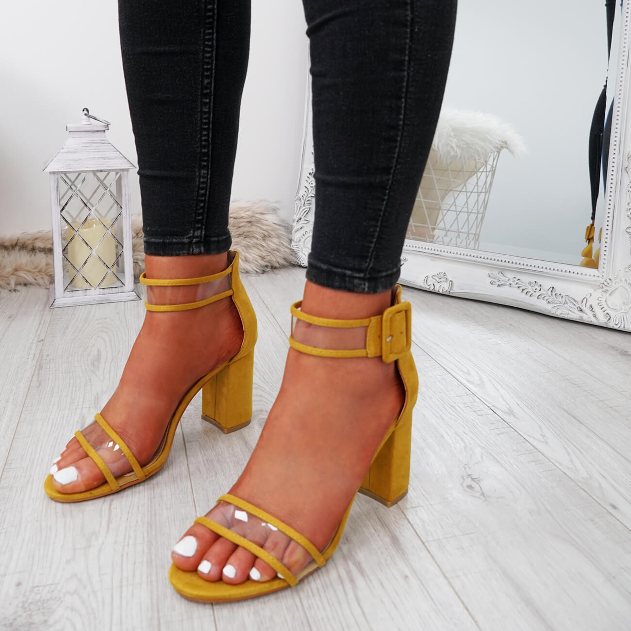 WOMENS-LADIES-ANKLE-STRAP-PEEP-TOE-HIGH-BLOCK-HEEL-SANDALS-FASHION-SHOES thumbnail 38