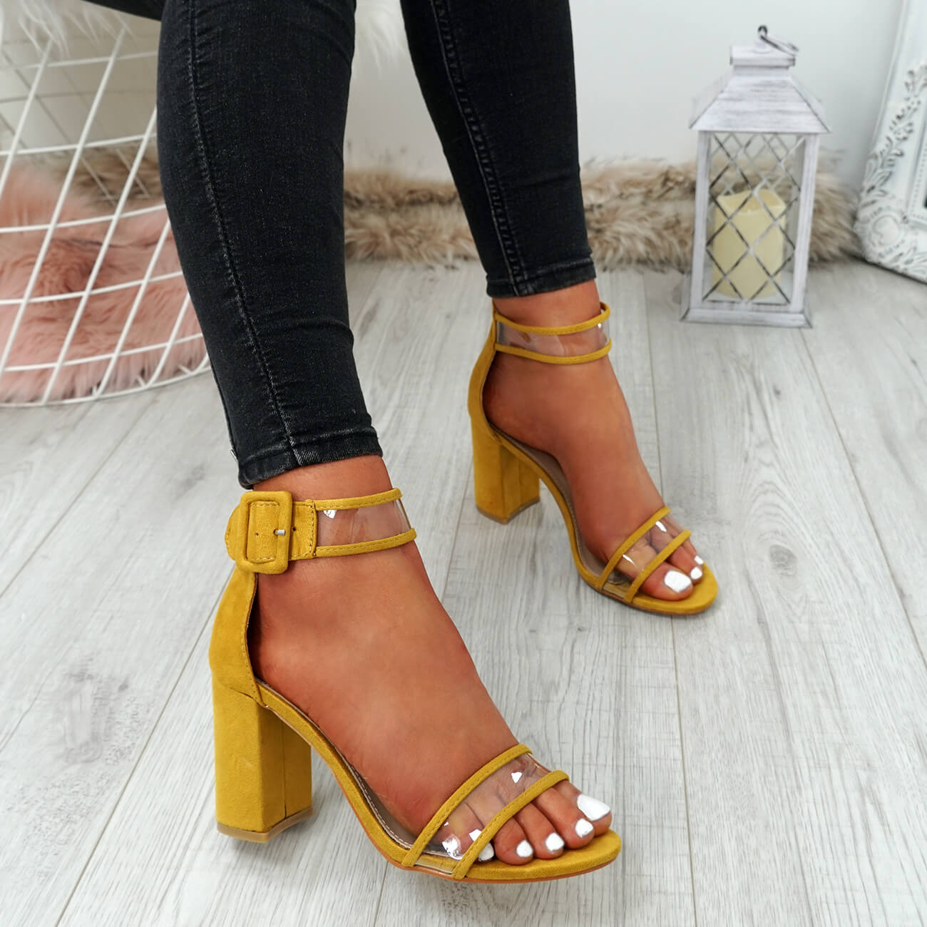 WOMENS-LADIES-ANKLE-STRAP-PEEP-TOE-HIGH-BLOCK-HEEL-SANDALS-FASHION-SHOES thumbnail 40