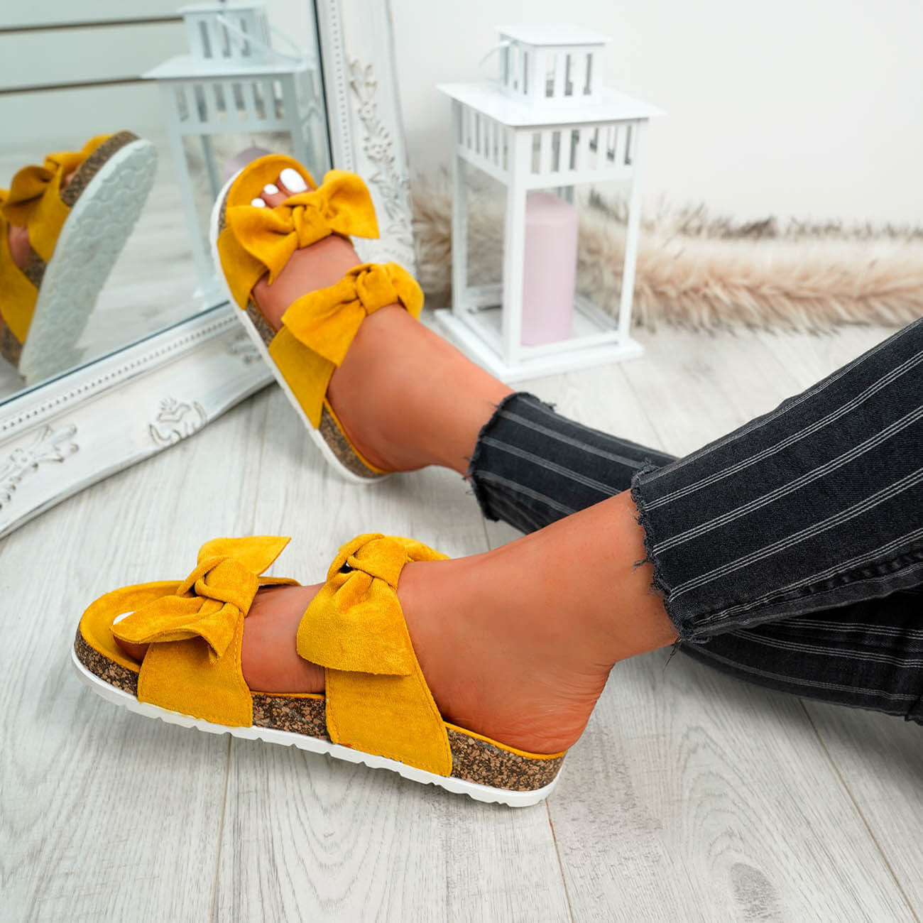 WOMENS-LADIES-PEEP-TOE-SLIP-ON-DOUBLE-BOW-FLAT-SANDALS-PARTY-CLUB-SUMMER-SHOES thumbnail 49